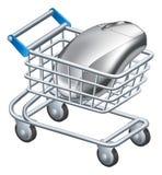 Online-internetshoppingbegrepp stock illustrationer