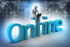 Online job concept Royalty Free Stock Photos