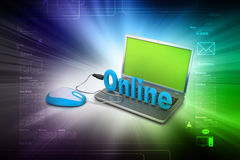 Online job concept Stock Images