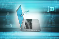 Online job concept Stock Photos