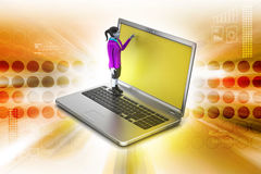 Online job concept Royalty Free Stock Photography