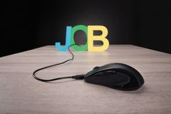 Online job concept Royalty Free Stock Image