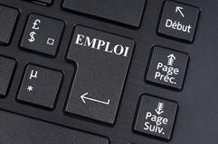 Key of a computer keyboard on which is written job in French vector illustration