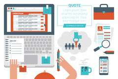 Online Job Searching Concept royalty free illustration