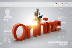 Online-jobbbegrepp vektor illustrationer
