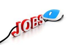 Online-Jobs stock abbildung