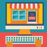 Online kaufen Stockfotos