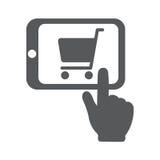 Online kaufen mit Tablet-PC Stockfotografie