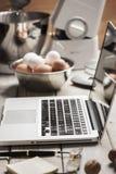 Online koken Stock Afbeelding