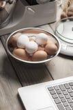 Online koken Stock Afbeeldingen