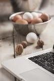 Online koken Royalty-vrije Stock Afbeeldingen