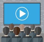 Online konferencja Internetowy spotkanie, wideo wezwanie royalty ilustracja