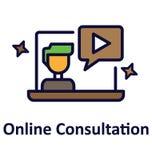 Online konsultant Odizolowywał Wektorową ikonę która może łatwo zmodyfikowany lub redagować ilustracji