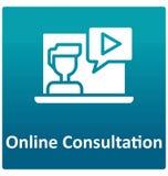 Online konsultant Odizolowywał Wektorową ikonę która może łatwo zmodyfikowany lub redagować royalty ilustracja