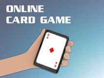 Online-kortspelbegrepp Arkivbilder