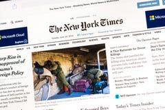 Online Krantenuitgave Stock Afbeeldingen