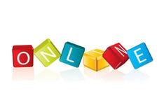 Online - kubusbrieven Royalty-vrije Stock Afbeelding