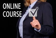 Online-kurs arkivfoton