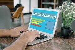 Online-kurs arkivbilder
