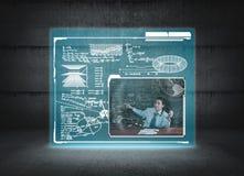 Online-kurs Begreppet av online-kursen arkivbild
