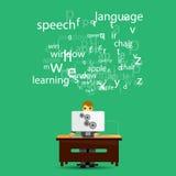 Online language learning Stock Photos