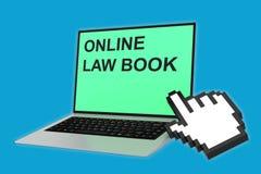 Online Law Book concept Stock Photos