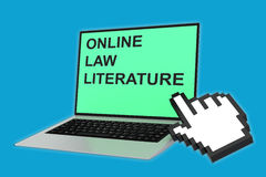 Online Law Literature concept Royalty Free Stock Photography