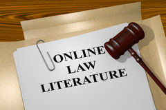 Online Law Literature concept Royalty Free Stock Images