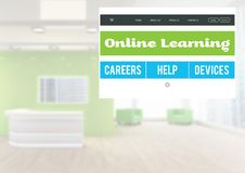 Online learning App Interface. Digital composite of Online learning App Interface Stock Image