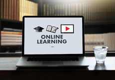 ONLINE LEARNING Connectivity Technology Coaching Skills Teach Di Stock Images