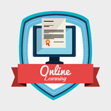 Online learning design. Illustration eps10 graphic Royalty Free Stock Images