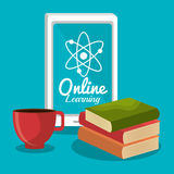 Online learning education graphic Stock Photography