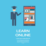 Online learning education infographic template Royalty Free Stock Photos