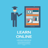 Online learning education infographic template Stock Photo