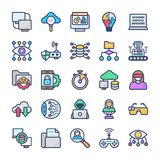 Online learning Flat Icons Pack vector illustration