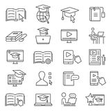 Online learning icon stock illustration