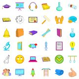 Online learning icons set, cartoon style. Online learning icons set. Cartoon style of 36 online learning vector icons for web isolated on white background Stock Photo