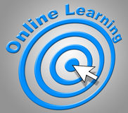 Online Learning Indicates World Wide Web And College Royalty Free Stock Photo