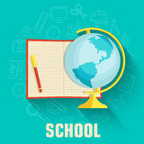 Online learning infographic background concept in Royalty Free Stock Photography
