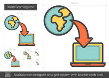 Online learning line icon. Royalty Free Stock Photos