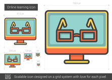 Online learning line icon. Royalty Free Stock Image