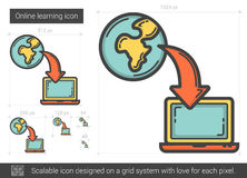 Online learning line icon. Royalty Free Stock Photography