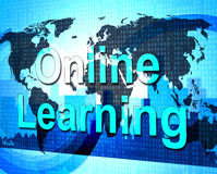 Online Learning Means World Wide Web And College Royalty Free Stock Photos