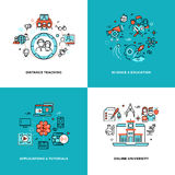 Online learning, tutorials and education vector concepts set Stock Photo