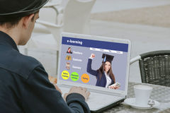 Online learning website Stock Photo