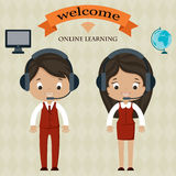 Online learning welcome board Royalty Free Stock Images
