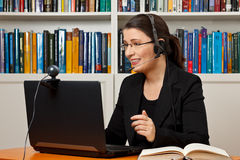 Online legal advice video call Royalty Free Stock Image