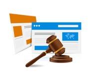 online legal law web concept. illustration design Royalty Free Stock Images