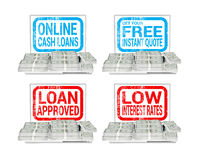 Online Lending Borrow Cash Loans Illustration Royalty Free Stock Images