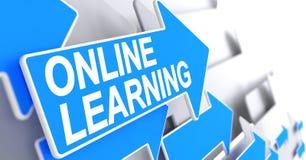 Online Lerend - Inschrijving op de Blauwe Curseur 3d Royalty-vrije Stock Afbeeldingen